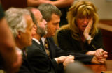 Grand Junction, CO., April 16, 2004. (lt. to rt.) Blagg Defense Attourneys David Eisner, Ken...