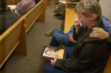Wendi Robyn, mother of Taylor DeMarco, sits in Garfield County Court in Glenwood Springs on...