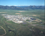 This is an aerial views of Rocky Flats before the clean up began which was shot in July of 1995 ....