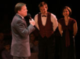 Paul Dwyer (cq), left, producer at the Country Dinner Playhouse in Greenwood Village, introduces...