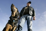 Richard Berrelez (cq) , founder of the ALIE Foundation, which has placed 126 bloodhounds with...