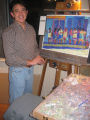 Nov. 12, 2005 - Art Student's League Art & Soul. Artist Tony Ortega works on one of his pastel...