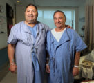 (NYT31) NEW YORK -- Dec. 8, 2005 -- NY-TRANSPLANT-FRIENDS -- Fred D'Amico, 61, left, and Izya...