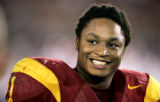 102205.SP.0917.USC11.WJS  USC's LenDale White is all smiles during a blowout win against Arkansas ...