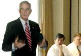 (DENVER,Colo., May 4, 2004) U.S. Senate candidate Pete Coors addresses State Republican lawmakers...