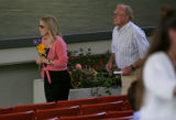 The mother of Sue Nott, no name available, arrives Sunday afternoon June 18, 2006 at the Gerald R....