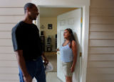 Tyrone Lenox (cq, left), 32, and Louise Salinas (cq, right), 31, both of Brighton, have been...