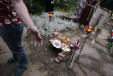 KAS046 Wiccans celebrate the summer solstice in the home of a high priest in Boulder on Thursday,...
