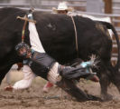KAS352 Brandon Able of Colorado City gets his hand stuck during the championship round of bull...