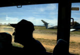 04/15/2004 Tucson, Arizona-Doolittle Raider Tom Griffin tours an aircraft graveyard in Tucson with...