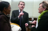 **1/24/06** Denver Public Schools Superintendent Michael Bennet, discusses points of the Denver...