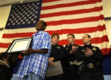 DENVER, Colorado.  June 24, 2004.    At the Denver Police Academy, District 5 officers presented...