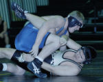 Gilchrest, CO Jan. 25, 2005 Luke Hopkin of Platte Valley takes down Luke O'Brayn of Valley in...