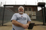 ALRC601 - Rod Spraggins poses in front of the Chambers County Jail, Friday, Feb. 10, 2006, in...