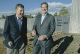 Denver, CO Jan. 31, 2006 Chester Latcham (right), president of Shea Homes, and Peter Culshaw, of...