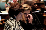 DENVER., Colo., Feb. 15, 2006) Rep. Anne McGihon, D-Denver wipes tears for her eyes Wednesday Feb....