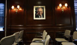 (NYT13) WASHINGTON -- Feb. 14, 2006 -- CHENEY -- A portrait of Vice President Dick Cheney hangs in...
