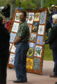 (Glenwood Springs, CO, Shot on 061004) Glenwood Springs Mayor Larry Emery accepts a quilt, on...