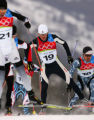 Todd Lodwick, of the USA, skis in the Nordic Combine LH Sprint at Pragelato Plan, Italy on...