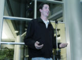 Westminster, CO Jan. 18, 2006 Vincent Yanker tells the media at the Westminster police department...