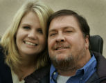 UTDP201 - ** SPECIAL TO THE ROCKY MOUNTAIN NEWS ** Heather Richins and Steven Singley pose for...