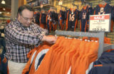 Ken  Martinez (cq) of Littleton shopped for Bronco merchandise at Dick's Sportings Goods at 7313...
