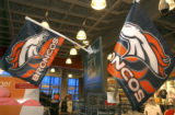 Bronco flags mark the spot for for Bronco merchandise at Dick's Sportings Goods at 7313 W. Alaska...