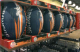 Bronco footballs are part of the  Bronco merchandise at Dick's Sportings Goods at 7313 W. Alaska...