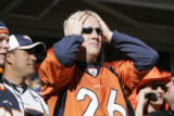 282 Broncos fan Josh Hansen, cq, shows dejection after a Pittsburgh touchdown at the end of the...