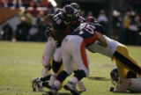 379 Denver running back Mike Anderson rushes during the second quarter against Pittsburgh at...