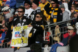 709 Pittsburgh Steelers fans show their support during the AFC Championship game against the...