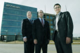 Denver, CO Jan. 25, 2005 ProLogis executives Robert Watson (left), President of North American...