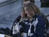 On Tuesday, January 24, 2006, 282 pairs of shoes lined the west steps of the State Capitol...