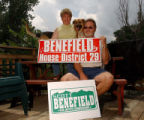 Denver, COlo., photo taken June 28, 2004- Scott Benefield (left) and his wife Debbie who are both...