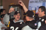 Steelers fans gathered to watch the AFC Championship game at the  Hofbrau Bar & Grill at 3355....
