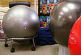 KAS012 FitBALLs sit on display at the Better Back Store in Boulder on Monday, July 3, 2006....