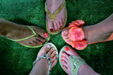 The latest in pedicure trends -- will have 5 categories (trendy, classic, funky, glam,...