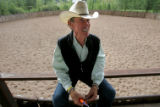 "Billionaire Tom Bailey at his 200 plus acre Cutting Horse ""Iron Rose"" Ranch in..."