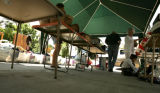 At the Campbell home they put up a tent for shade to allow their customers to linger and browse...