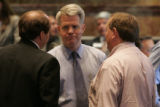 (L-R) State Reps Ted Harvey R- Highlands Ranch, David Balmer R- Centennial and Mike May R- Parker,...