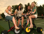 (Denver, Colo., June 24, 2006) Kairee Sawyer, Missy Robinson, Becky McIntyre, Kirsten Roesch. ...