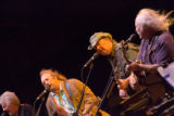 "(from left) Graham Nash, Stephen Stills, Neil Young, and David Crosby, play together at ""An..."