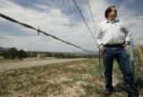 Tim Pinson (cq) the Garfield County Oil and Gas Liaison, stands near one of the most controversial...