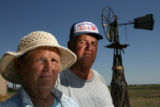 MJM1086 Bev and Dale Hansen pose for a portrait Thursday on their ranch outside of Fort Morgan. ...