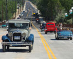 Vintage Cars from the last century were the first cars to travel the new 29 Rd Bridge crossing the...