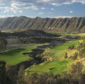 This view of the 18th hole at Lakota Canyon Ranch and Golf Club was taken from the clubhouse...