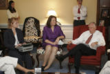 7/18/06 - Washington D.C. - Rep. DeGette (in purple) at a press conference with Steny Hoyer...