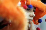 The fans from Holland in their bright orange and blue outfits far outnumbered any other nation's...