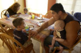 (Parker, Colo., June 23, 2004)   Story is on how working families juggle jobs, chores,...