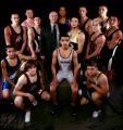 2006 Rocky Mountain News All-Colorado wrestling team. 14 members, plus the coach photographed in...